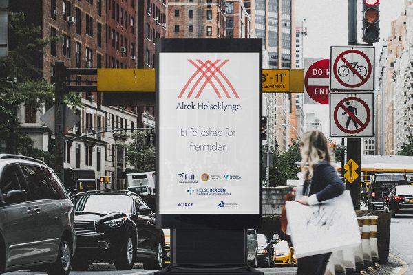 Alrek helseklynge on billboard