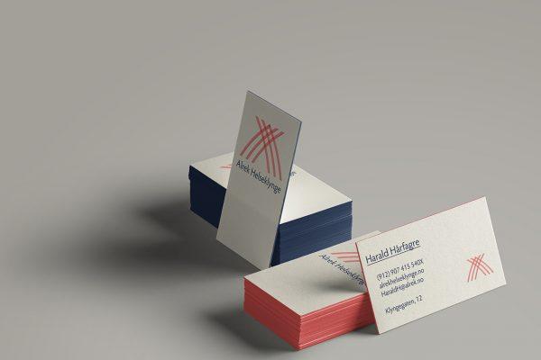 Alrek helseklynge businesscard example
